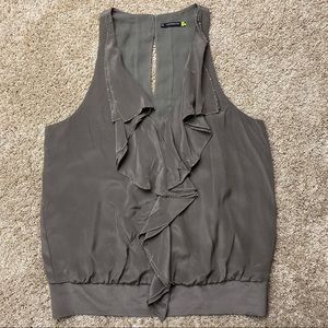 Anthropologie Leifsdottir Silk Ruffle Tank Top 10